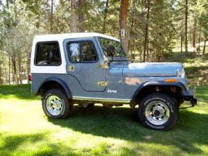 1-Piece Removable Hardtop for Jeep CJ5 Late Model (1976-1983) & Jeep CJ5 Hardtop and Hard Tops for a CJ 5