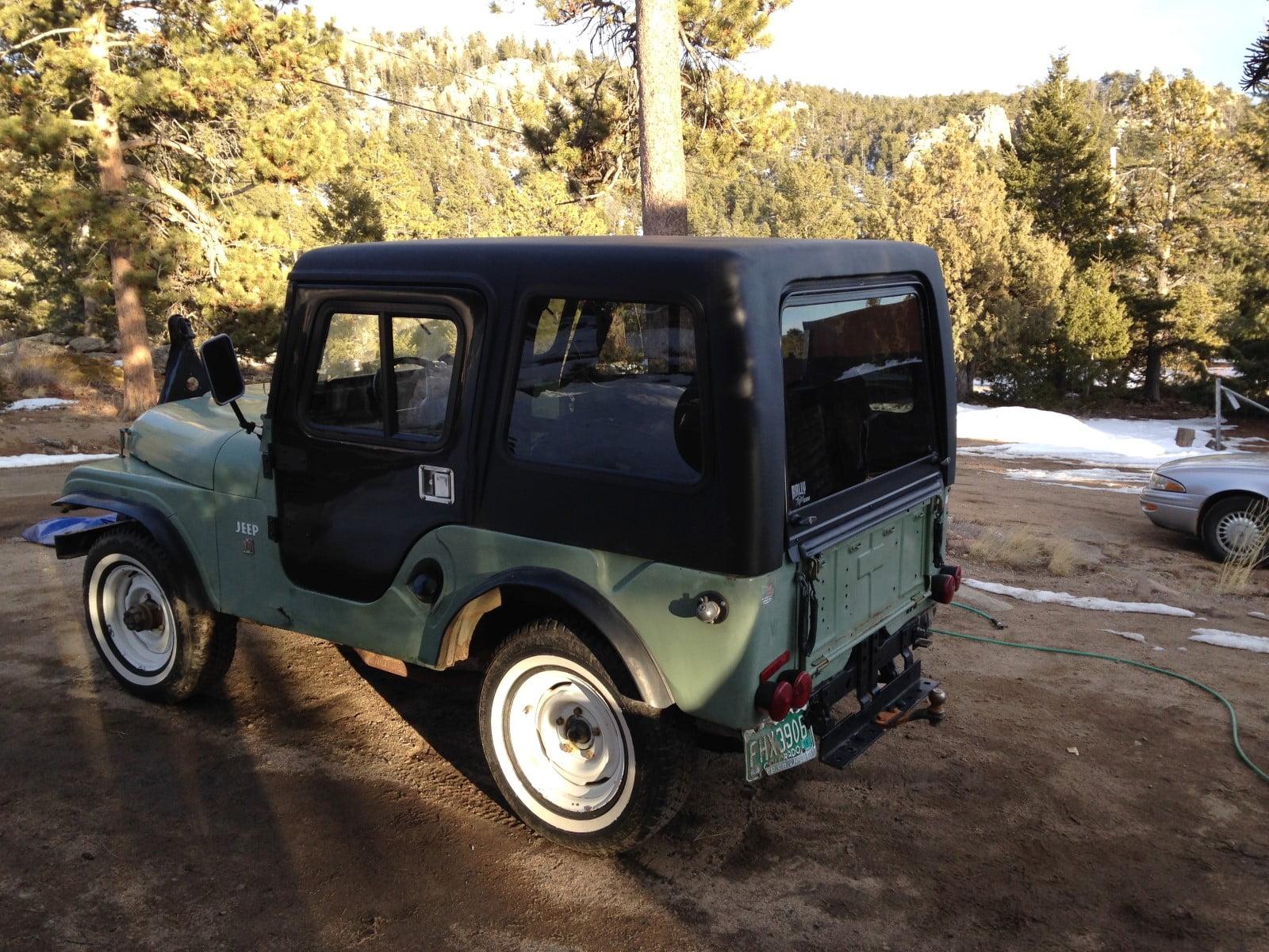 Jeep CJ5 Hardtop 1 Piece Removable Top for 1954-1975 Jeeps