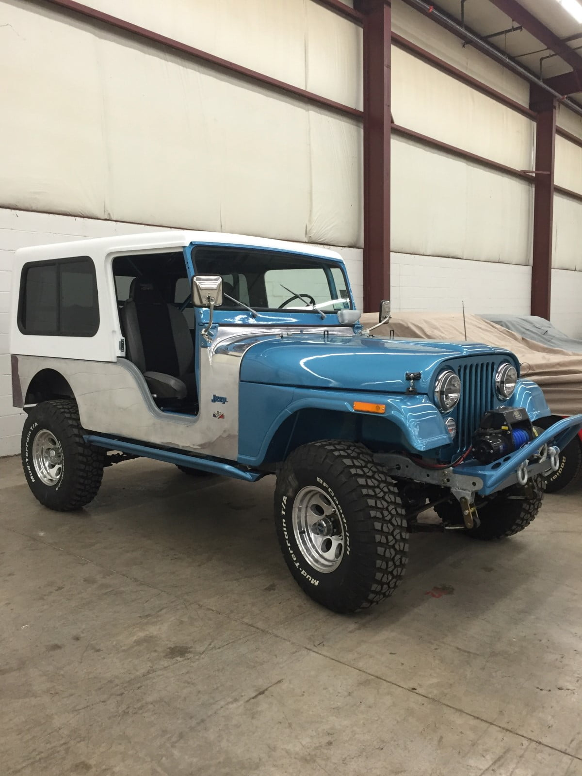 rally tops quality hardtop for jeep cj6 with door inserts. Black Bedroom Furniture Sets. Home Design Ideas