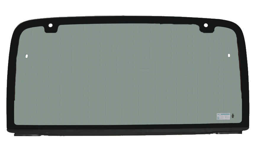 Rear Glass With Plastic Strip And Rubber Weather Seal For