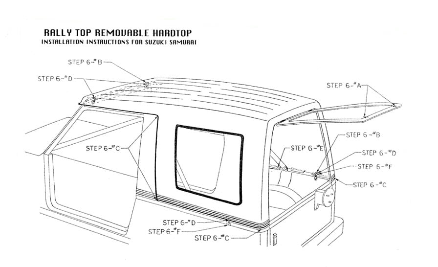 installation instructions for suzuki samurai 1